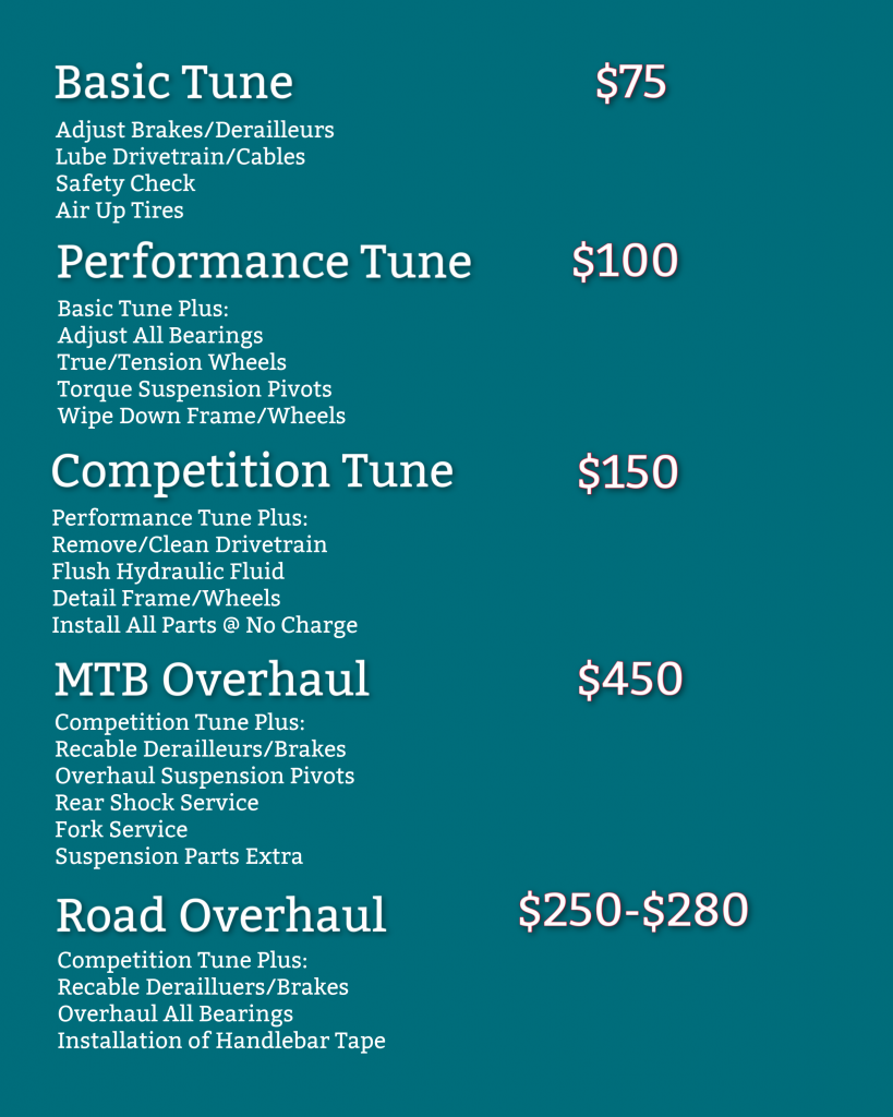 Bike Tune Up Packages